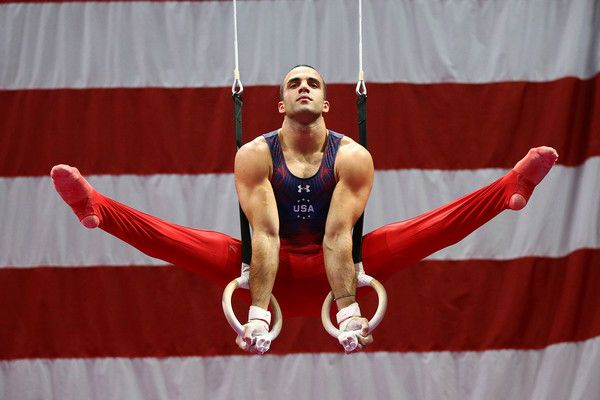 Danell Leyva competes on the rings during day one of the 2016 Men's Gymnastics Olympic Trials at Chafitz Arena on June 23, 2016 in St. Louis, Missouri.