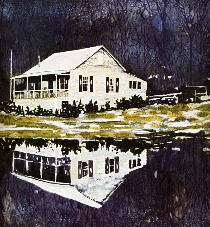 Peter Doig - Google Search - Stark contrast - Color scheme - Reflection - Paint application - Masked?