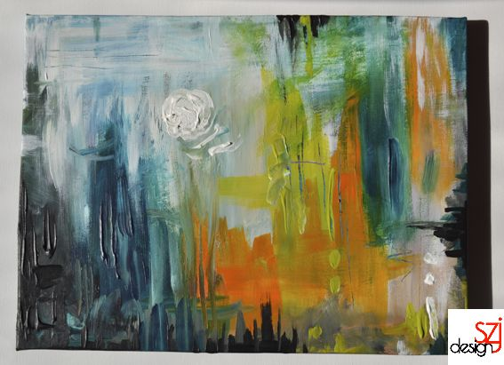 szjdesign: paintings, acrylic, canvas, art, Twilight walk