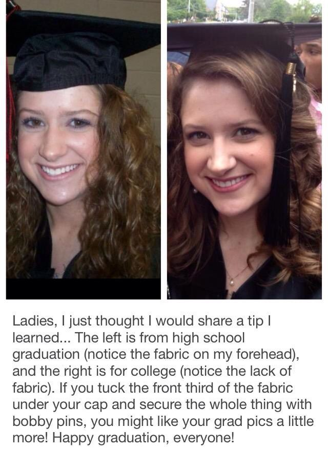 How to wear your hair with a graduation cap. Smart!