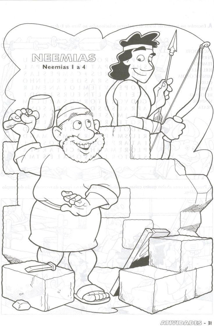 nehemiah coloring pages 28 images israelites rebuild jerusalem