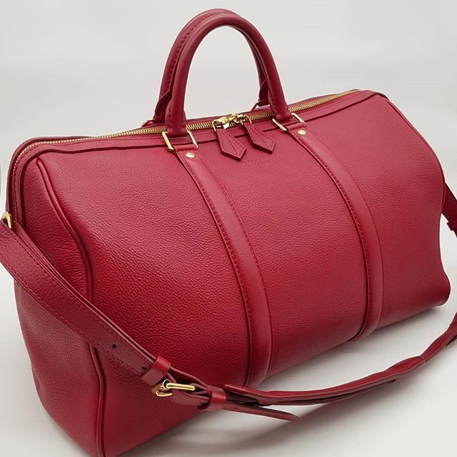 1800 Wire Preloved Louis Vuitton Sofia Coppola Bag Red Calfskin