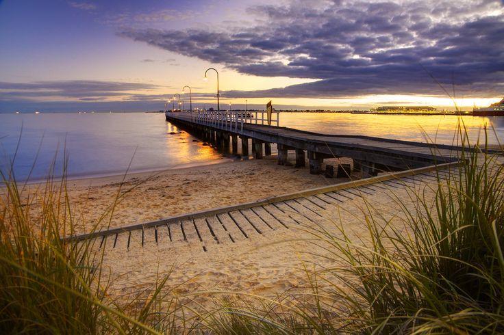 Port Melbourne Beach in Port Melbourne, VIC
