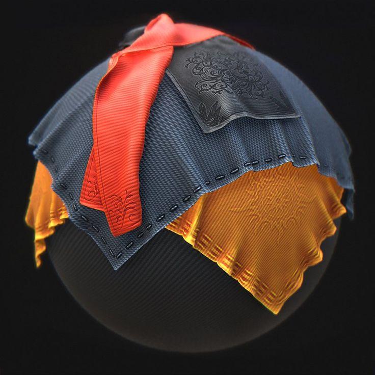 ArtStation - PBR Smart Material - Elegant Fabric, Paweł Łyczkowski