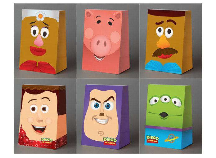 Bolsitas de papel personalizadas de Toy Story