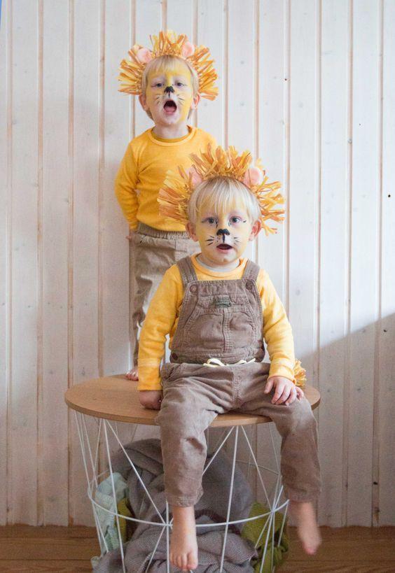 Meine Löwen- ein last minute Kostüm für Kinder