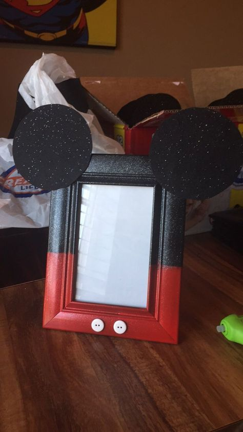 Image result for DIY decorate on picture frame disney characters