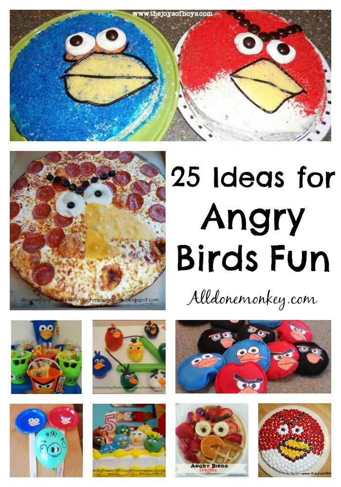 Lots of Angry Birds fun for your kids, from crafts and games to pizza and cakes! Perfect for a birthday party or a play date.