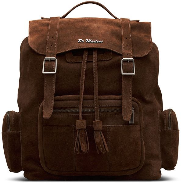 Dr. Martens Leather Big Slouch Backpack (1.085 RON) ❤ liked on Polyvore featuring bags, backpacks, brown, brown satchel handbag, slouch backpack, leather satchel, oversized backpacks and leather satchel backpack