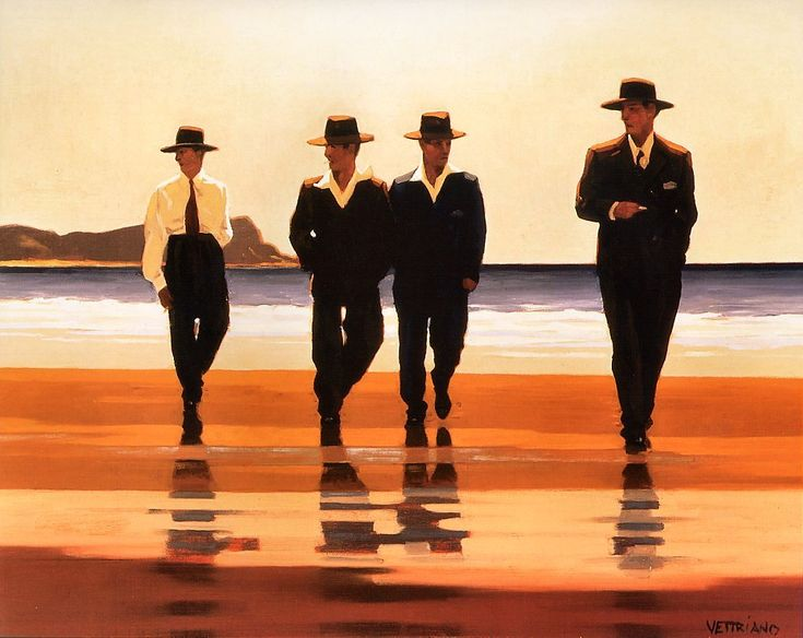 The Billy Boys - Jack Vettriano oils on canvas