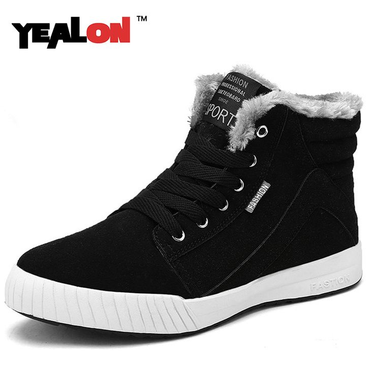 YEALON Men Boots Fashion Martin Boots Breathable Leather Shoes Mens Ankle Black Spring Booties Lace Up Boot Fashion Casual Shoes