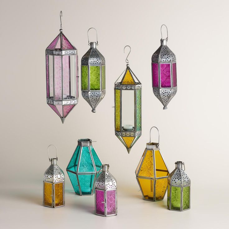 We traveled the world to find our hanging lantern, handcrafted by artisans in India of glass and hand-punched iron with an antique zinc finish. www.worldmarket.com #WorldMarket Outdoor Entertaining