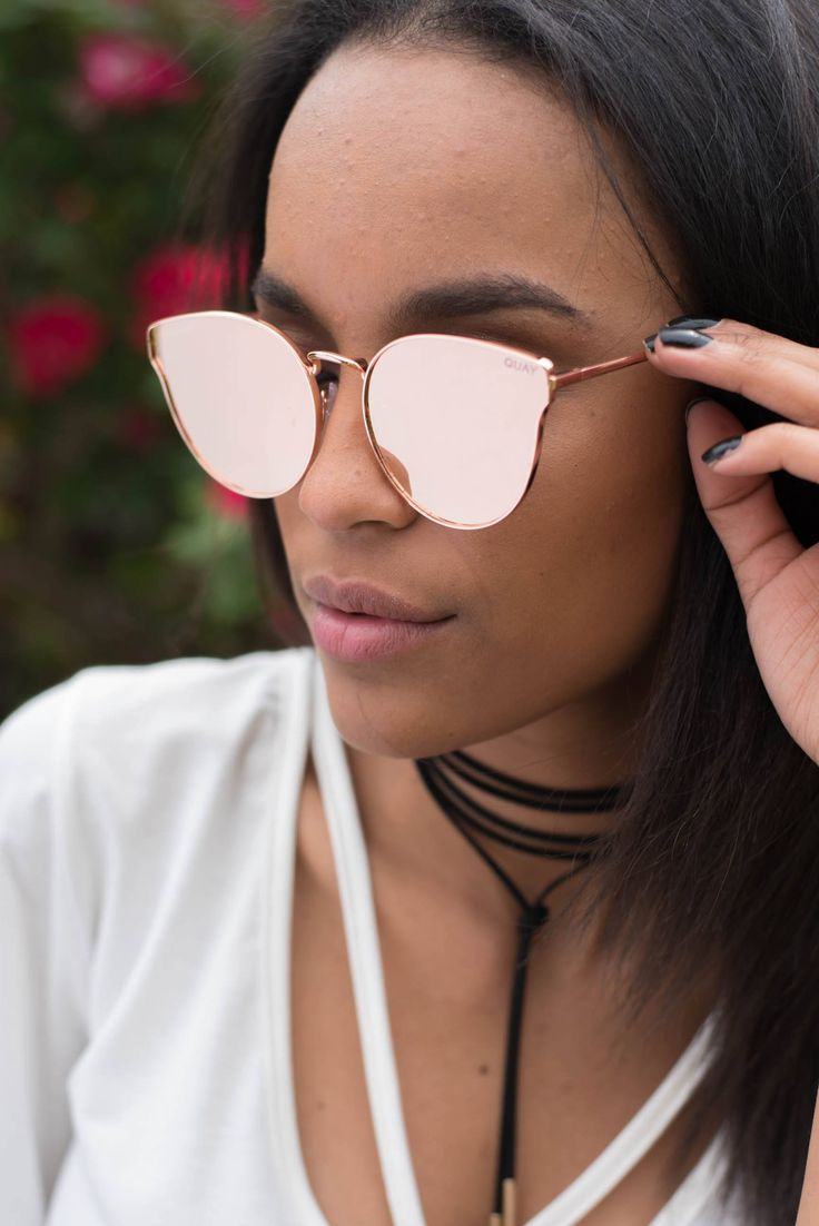 Quay All My Love sunglasses rose gold/pink mirror