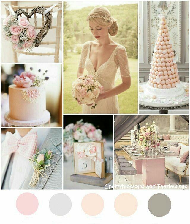 Пудрово-розовые свадебные платья