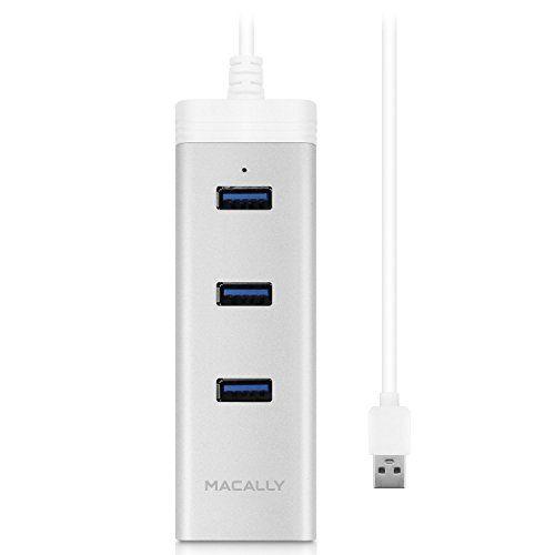 nice Macally Aluminum 3-Port USB 3.0 Hub and Gigabit Ethernet Network Adapter for Mac (OSX) and PC (Windows) (U3HUBGBA)
