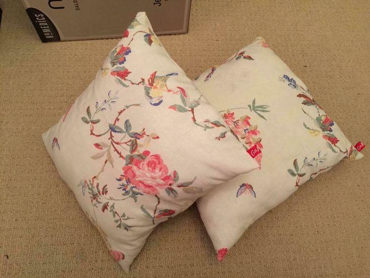 Pair of #handmade #cushions using #CathKidston #material