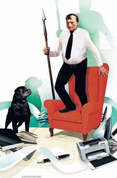 TESTOSTERON. Mannen weten niet meer hoe zich te gedragen. Van de verwachtingen van hun baas, partner en henzelf raken ze depressief. De Britse journalist Tim Samuels maakt de balans op in zijn boek 'Waar is mijn speer'.