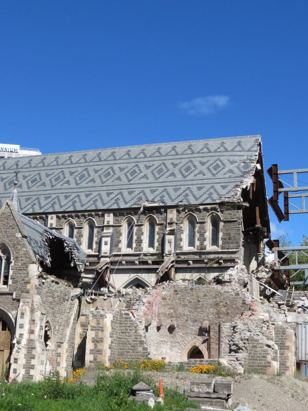 Our broken Cathedral . Christchurch, New Zealand