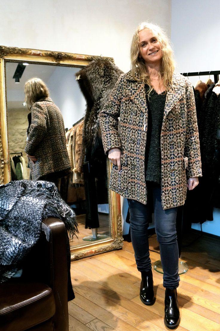 Corine got this printed vintage blazer. So stylish. #vintage #le132turenne #paris #furaddict #furlover #winterfashion #winterstyle #fashionshop #shoppinginParis #whatiwore #luxeforless #inspiration #ootd #wiwt #winterwear #furobessed #attitude #depotvente #dopefashion #ateliervintage #liketkit #urbanoutfitters #uoonyou#dope #mode #moda #wishlist #newyear #2015