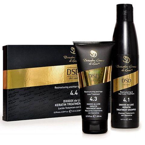 Hårvekst stimulering og skadet hår restrukturering behandling - Sett i 3 Deler