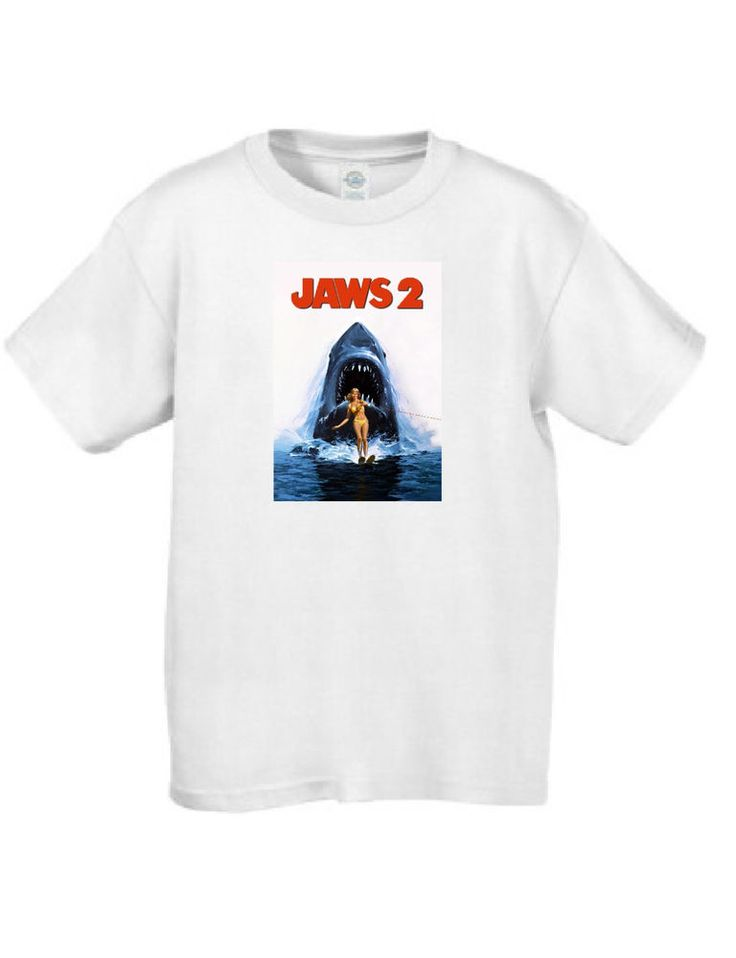 Jaws 2 Movie Poster T Shirtt #MT018 #ArielCollection