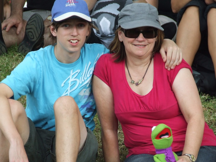 Me and my son Trent, at Moomba