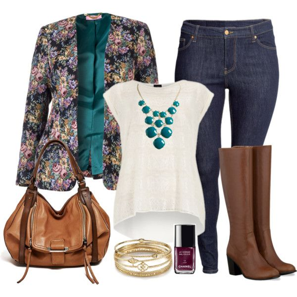 #plussize #plus #size #outfit #Fall Floral Blazer Day - Plus Size