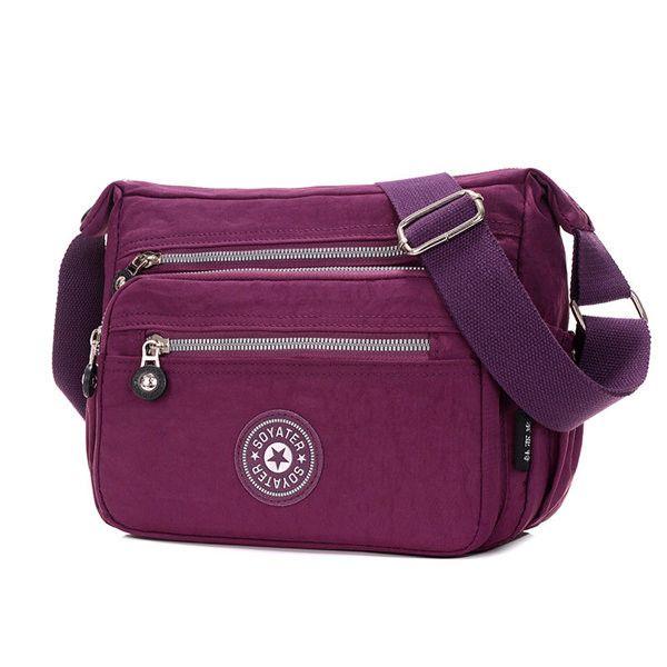 Women Casual Multifunctional Nylon Bags Casual Light Waterproof Shoulder Bags Crossbody Bags