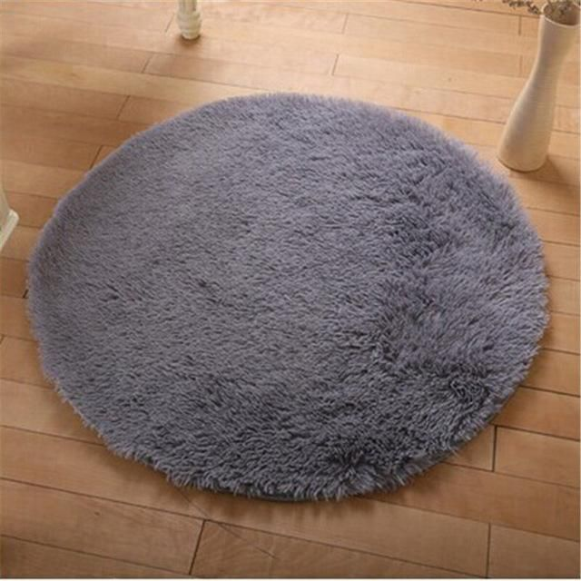 Free Shipping Anti Slip Multi Colors 40 40cm Yoga Carpet Round Floor Carpets For Living Room In 2020 Round Rug Living Room Living Room Carpet Durable Carpet