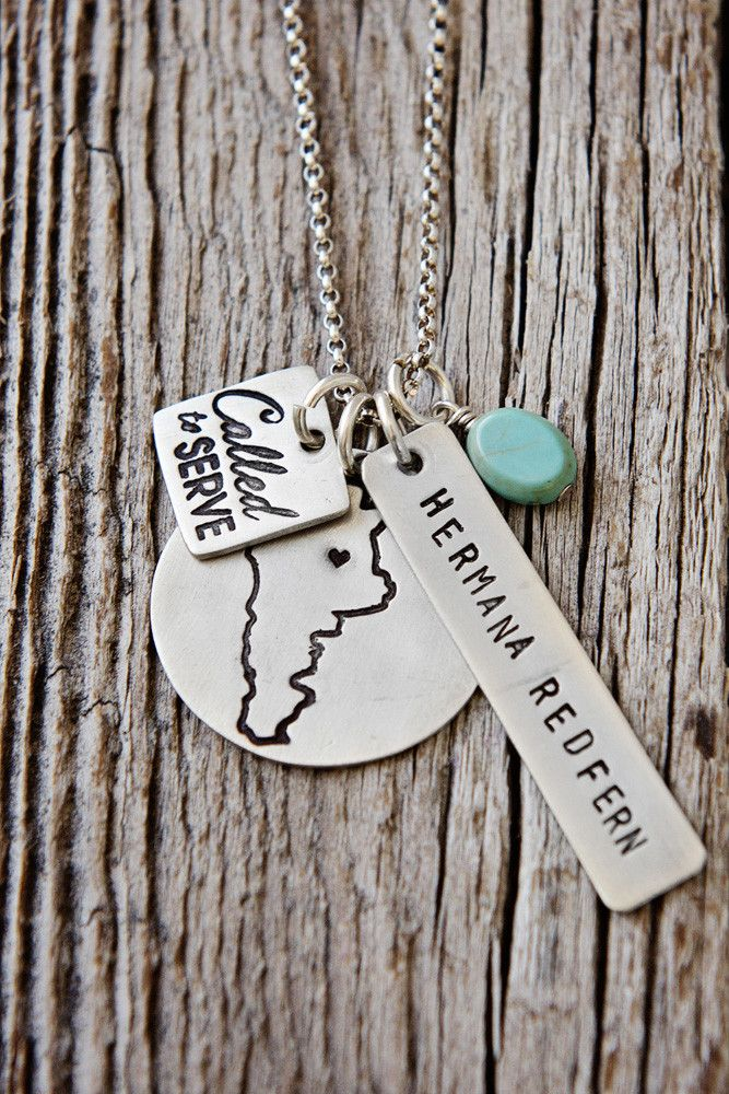 Called to Serve Missionary Map Necklace // LDS Sister Missionary Mission Necklace from @charmyoself