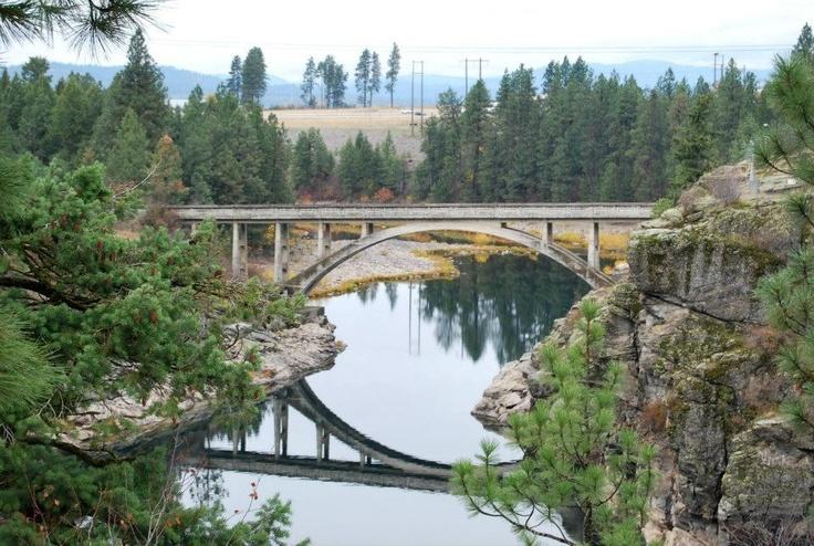 The dam at Post Falls, Idaho.