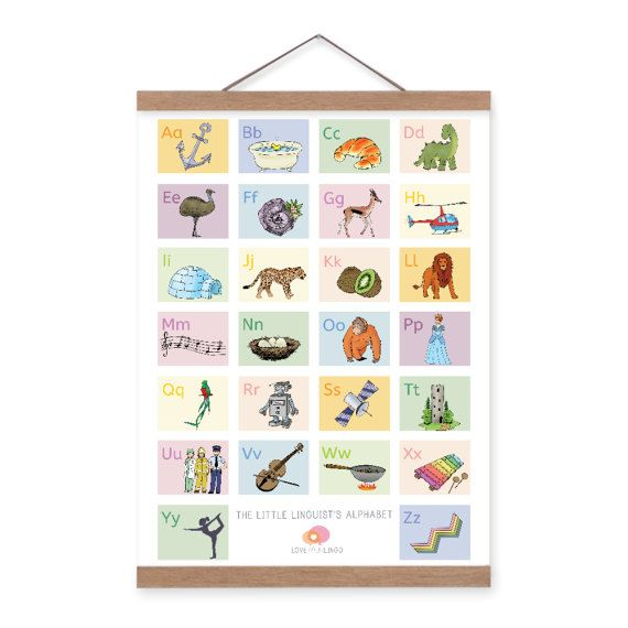 The Little Linguist's Alphabet Medium by LoveYourLingo on Etsy