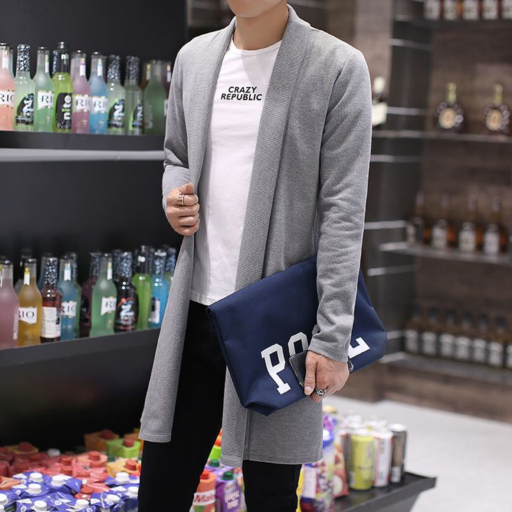 2016 spring/autumn New arrival male cardigan thin outerwear fashion casual men's clothing Men's long Sweater & Cardigan size 5xl