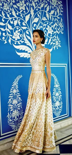Looking for a gown style indian wedding dress? Check out Anita Dongre's new 2014 collection