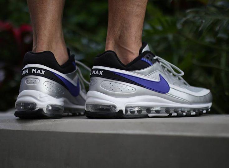 Nike air max 97 bw gris metallique avec swoosh violet (2018 ...