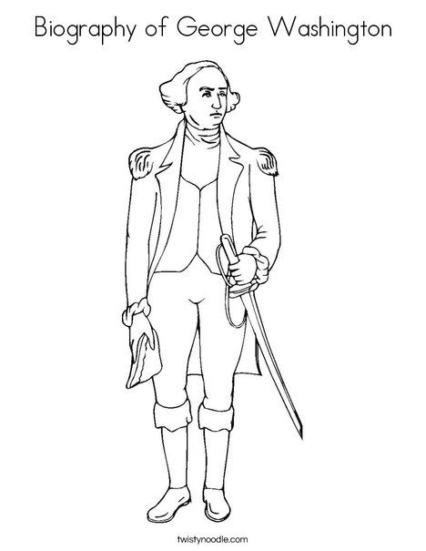 Coloring Pages George Washington Coloring Page Coloring Pages