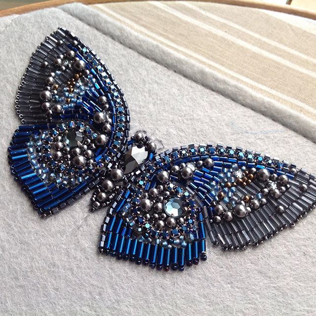 Lovely bead embroidery butterfly. Broken link, though.