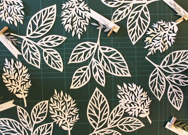 Inspiration: leaf paper cutting workshop by giochi di carta.