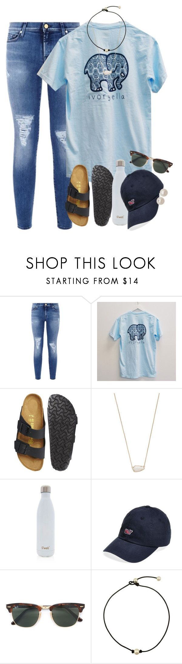"""""""ugh my sets suck comment some ways I should improve"""" by smbprep ❤ liked on Polyvore featuring 7 For All Mankind, Birkenstock, Kendra Scott, S'well, Vineyard Vines, Ray-Ban and Honora"""