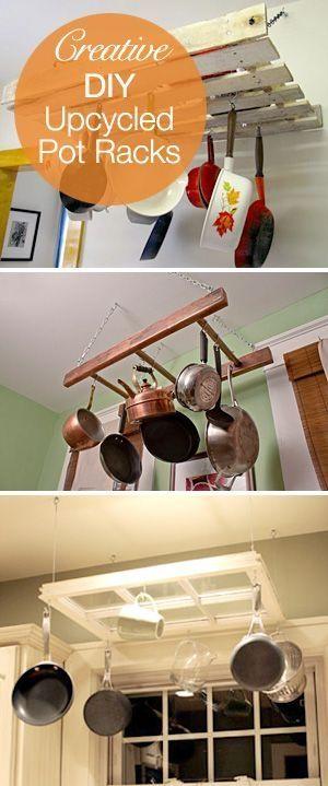 Creative DIY Upcycle Pot Rack Ideas! by R&M - Hannah's kitchen ideas