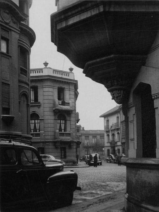 Calle Londres de Santiago, años '50s.