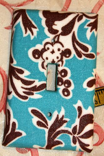 How to Mod Podge fabric switch plate.