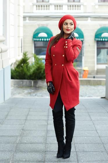Palton PrettyGirl Perfect Feeling Red