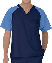 UA Best Buy Scrubs Men's Color Block Scrub Top