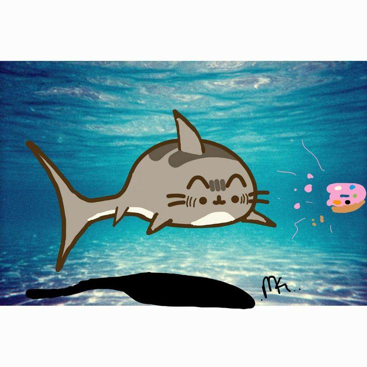 Tiburón-pusheen