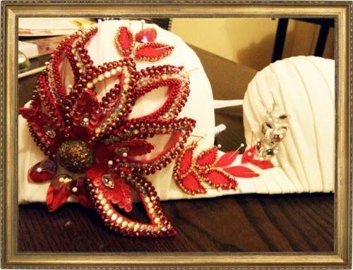 Bellydance Costume. Flower Bra :-)