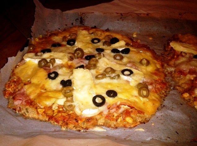 Pizza z ovesných vloček