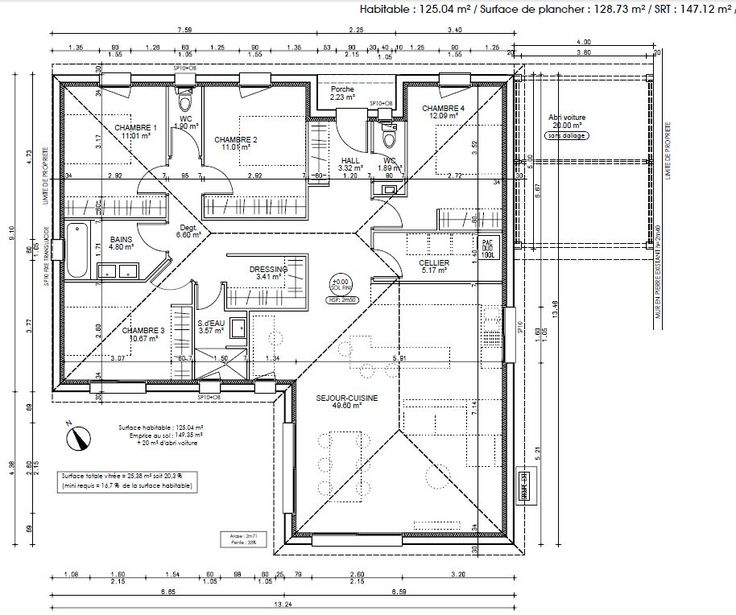 Site pour plan maison full size of maison moderne plan for Plan maison sans couloir