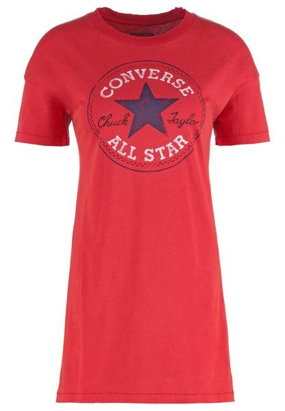 Converse has given us another wardrobe favourite with their Chuck Patch Tee Dress.  The dress has been enzyme washed for a softer feel and a colour loss effect with a faded Chuck Taylor logo print.  Who can resist a laid-back and retooled vintage look?