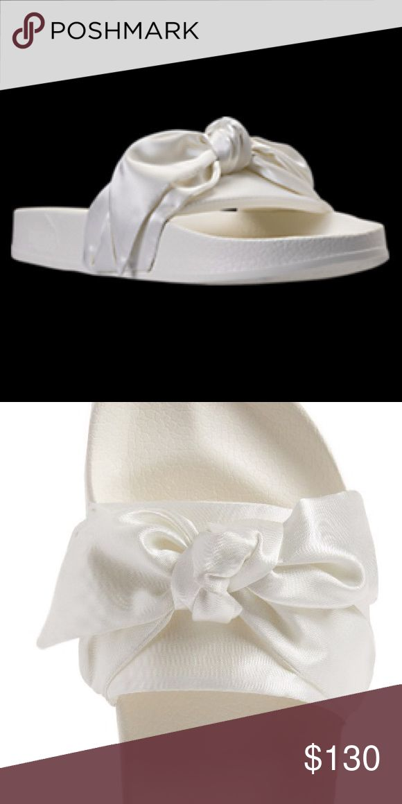 Fenty By Rihanna Puma Slides in color marshmallow Worn a handful of times, come with original box and dust bag. Will add actual pictures ASAP. Rare and sold out. Puma Shoes Sandals